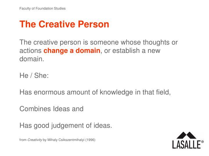 The Creative Person