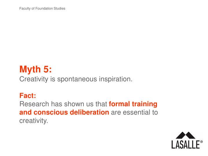 Myth 5: