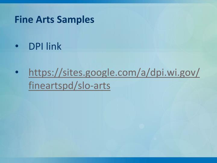 Fine Arts Samples