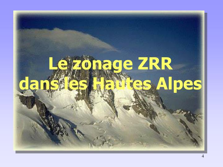Le zonage ZRR