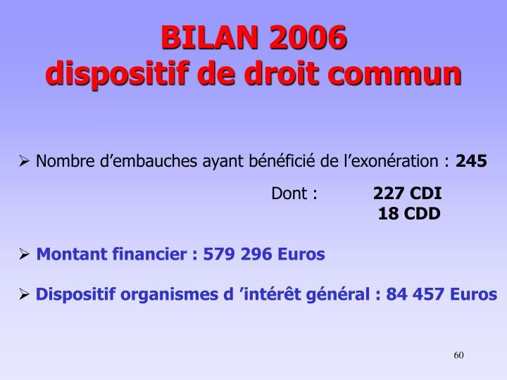 BILAN 2006