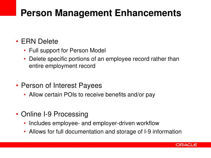 Person Management Enhancements