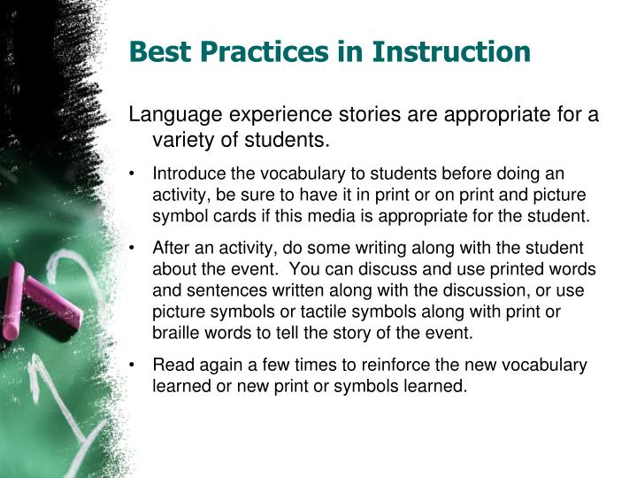 Best Practices in Instruction