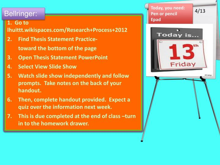 find the thesis exercise The basics of writing a thesis statement or introduction sentence  find out why close how to write a thesis for beginners andrew loading.