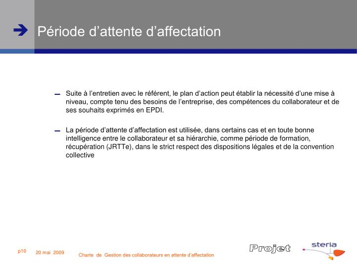 ppt - charte de gestion des collaborateurs en attente d u2019affectation powerpoint presentation