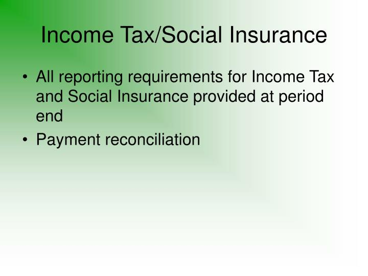 Income Tax/Social Insurance