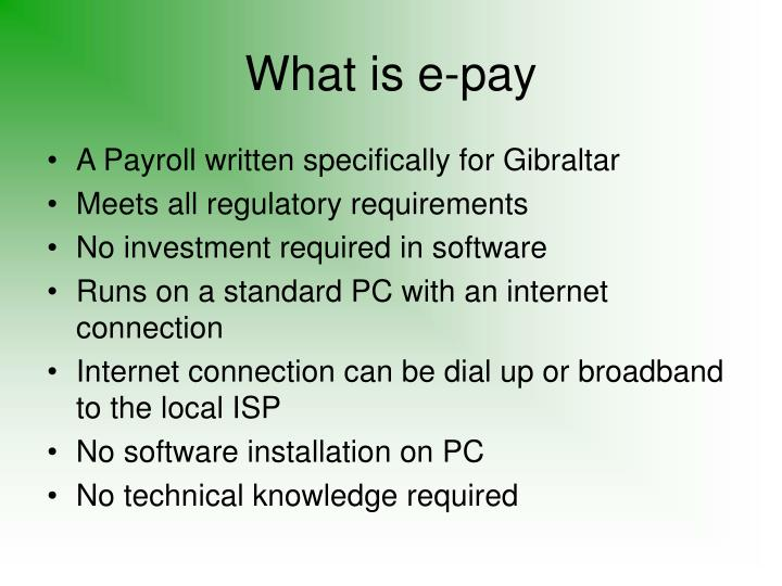 What is e-pay