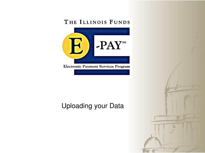 Uploading your Data