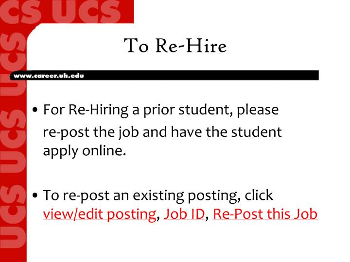 To Re-Hire