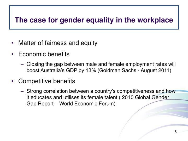 The case for gender equality in the workplace
