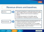 revenue drivers and baselines1