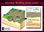 develop bedding plane contd