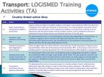 transport logismed training activities ta1