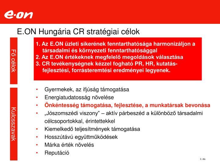 E.ON Hungária CR stratégiai célok