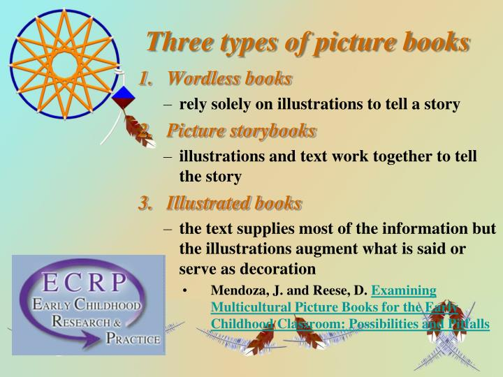 Three types of picture books