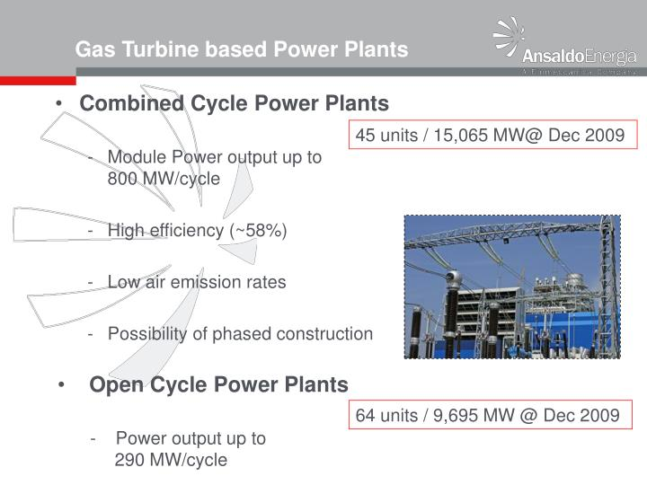 Combined Cycle Power Plants