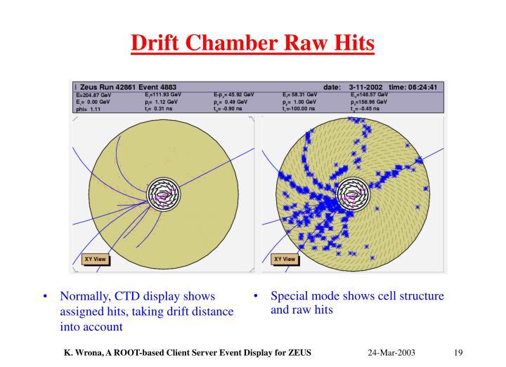 Drift Chamber Raw Hits