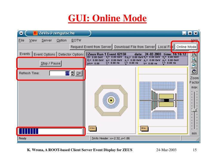 GUI: Online Mode