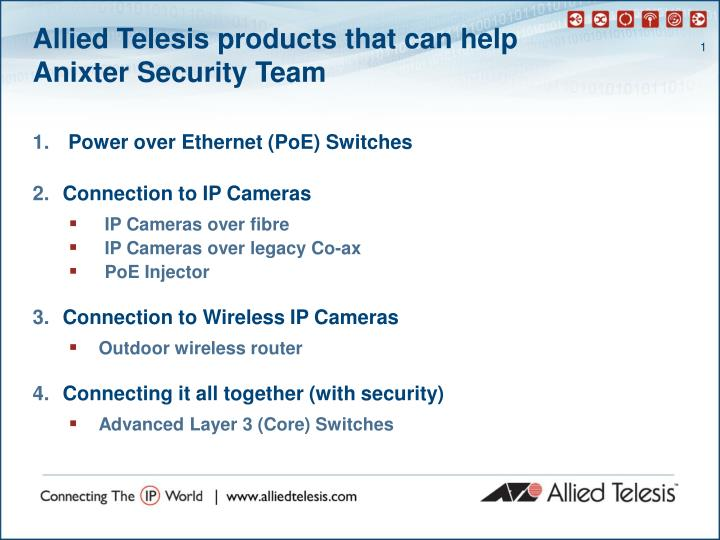 Allied Telesis products that can help
