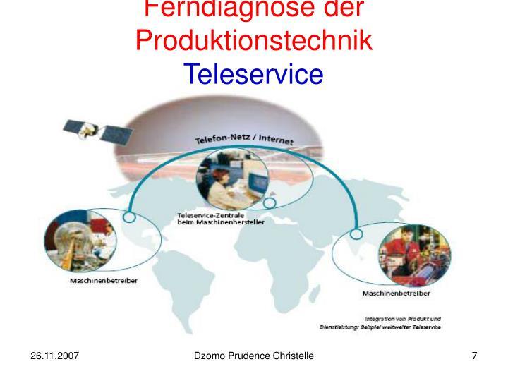 Ferndiagnose der Produktionstechnik