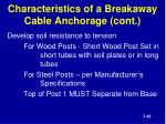 characteristics of a breakaway cable anchorage cont1