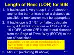 length of need lon for bib
