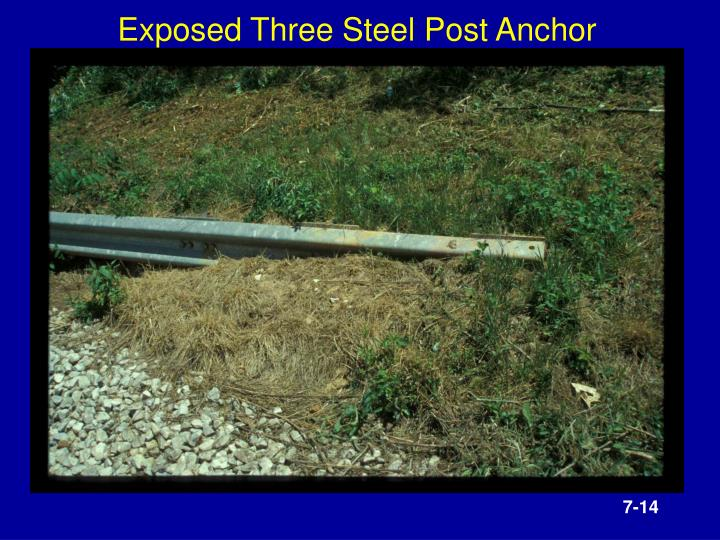 Exposed Three Steel Post Anchor
