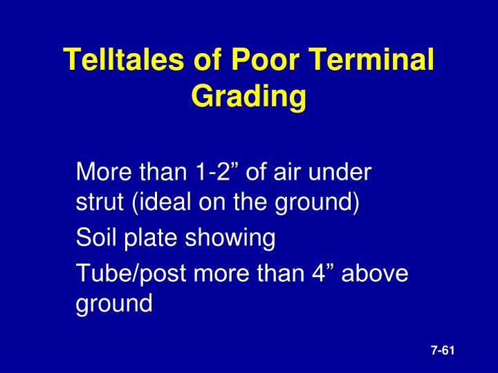 Telltales of Poor Terminal Grading