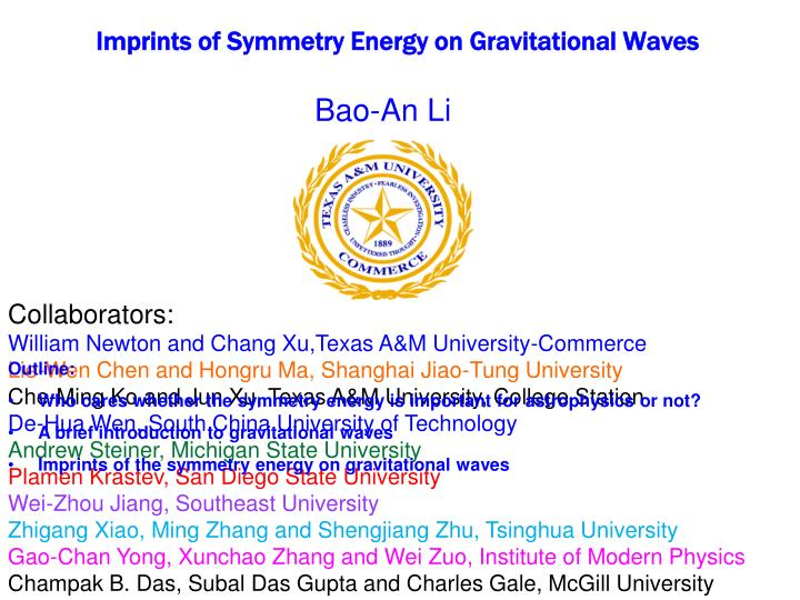 Imprints of symmetry energy on gravitational waves