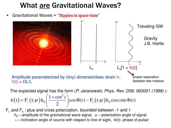 "Gravitational Waves = """