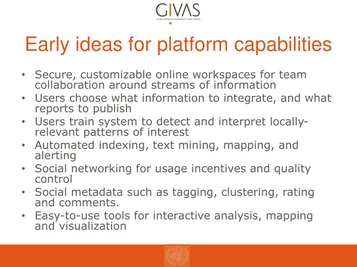 Early ideas for platform capabilities