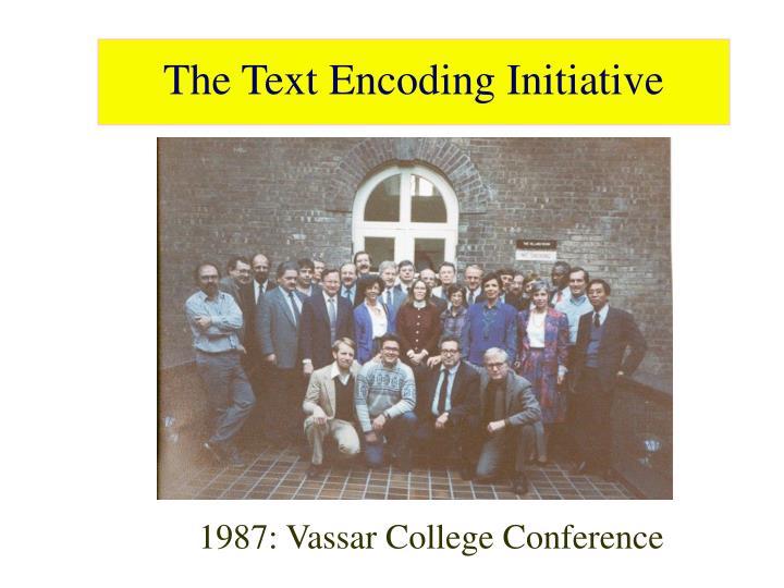 1987: Vassar College Conference