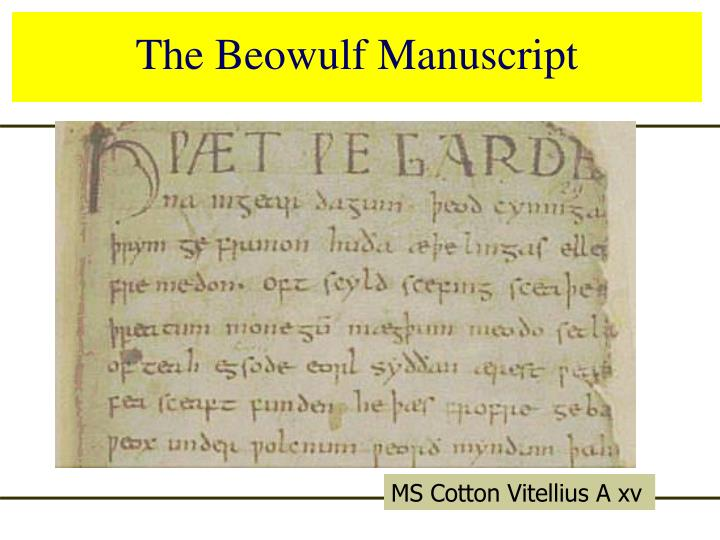 The Beowulf Manuscript