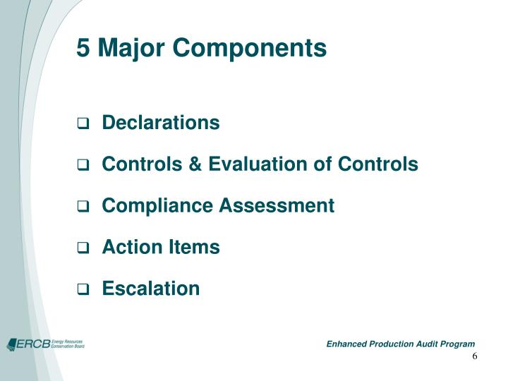 5 Major Components