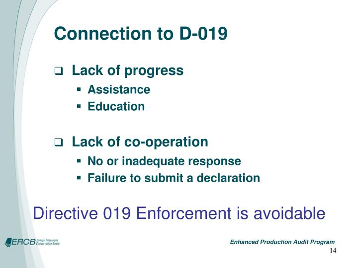 Connection to D-019