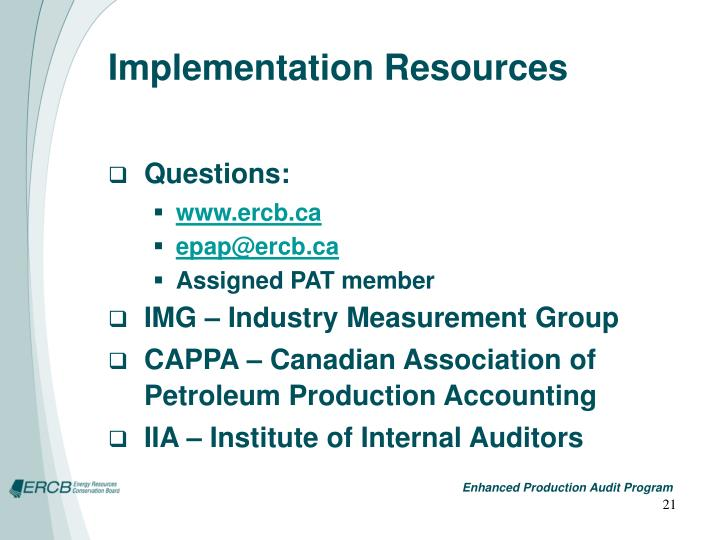 Implementation Resources
