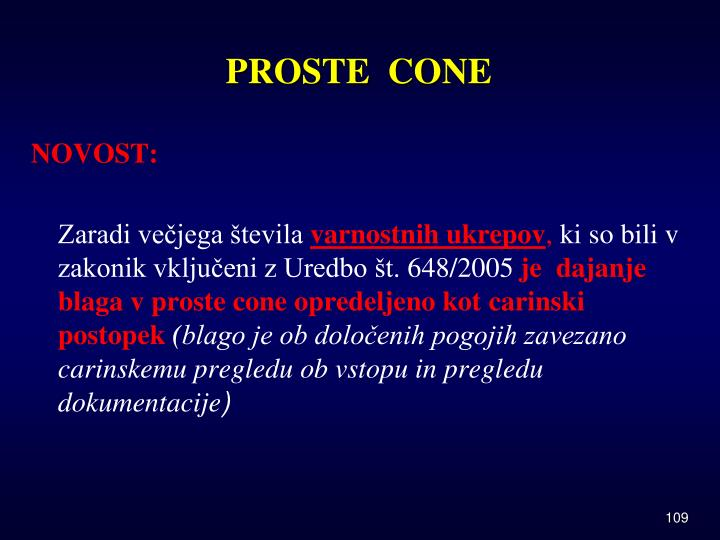 PROSTE  CONE