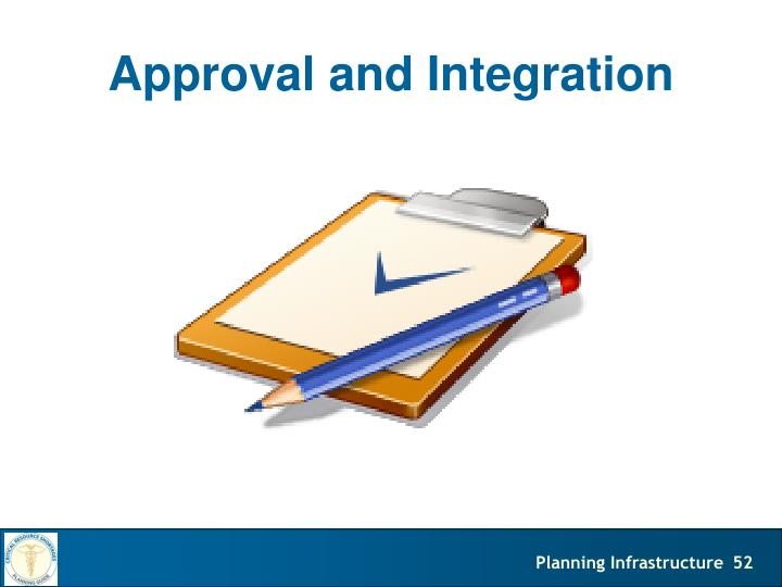 Approval and Integration