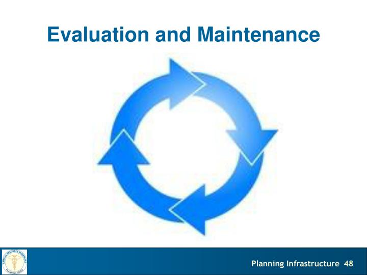 Evaluation and Maintenance