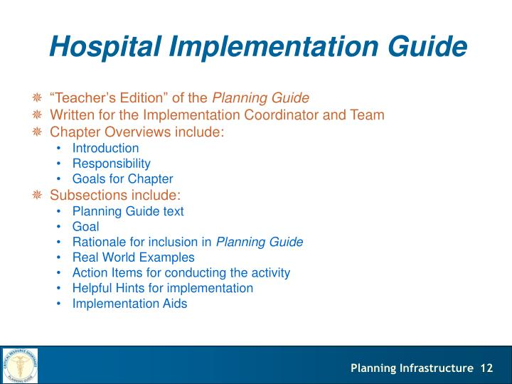 Hospital Implementation Guide