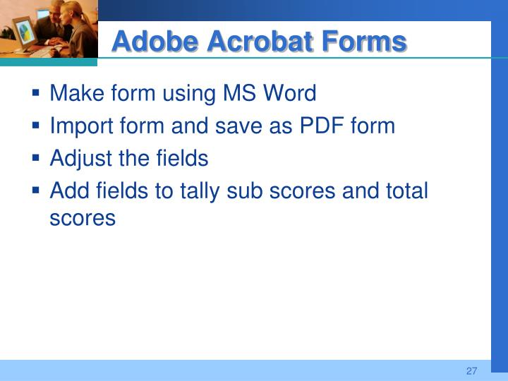 Adobe Acrobat Forms