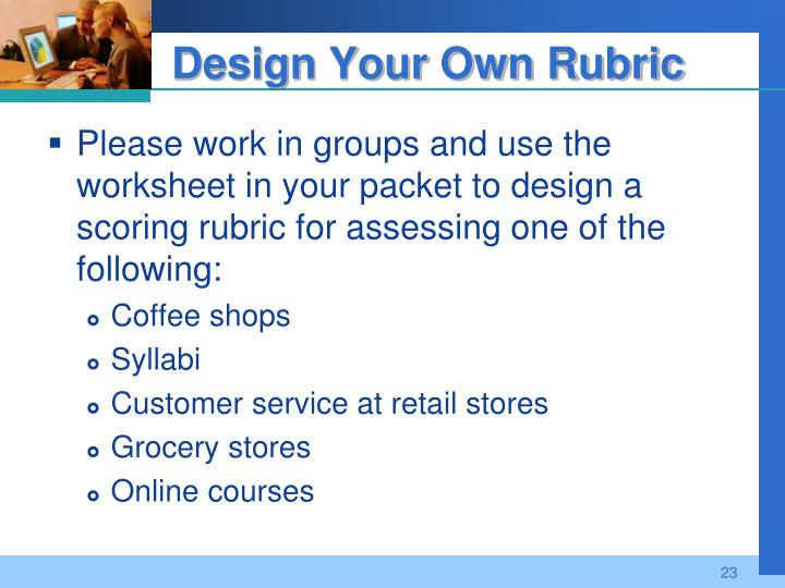 Design Your Own Rubric