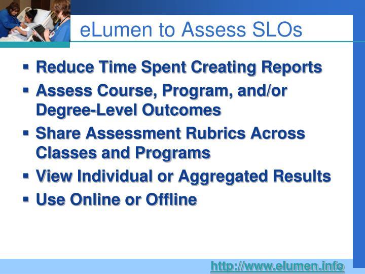 eLumen to Assess SLOs