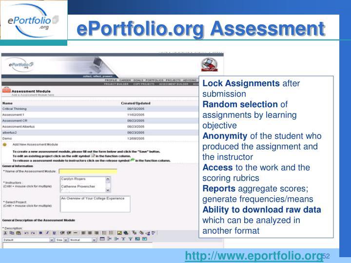ePortfolio.org Assessment