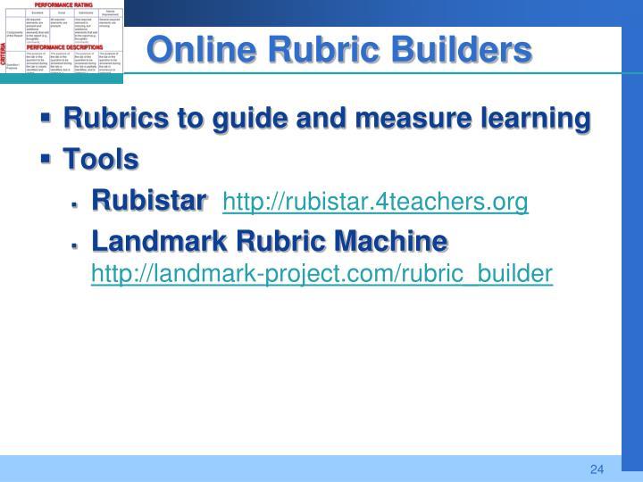 Online Rubric Builders