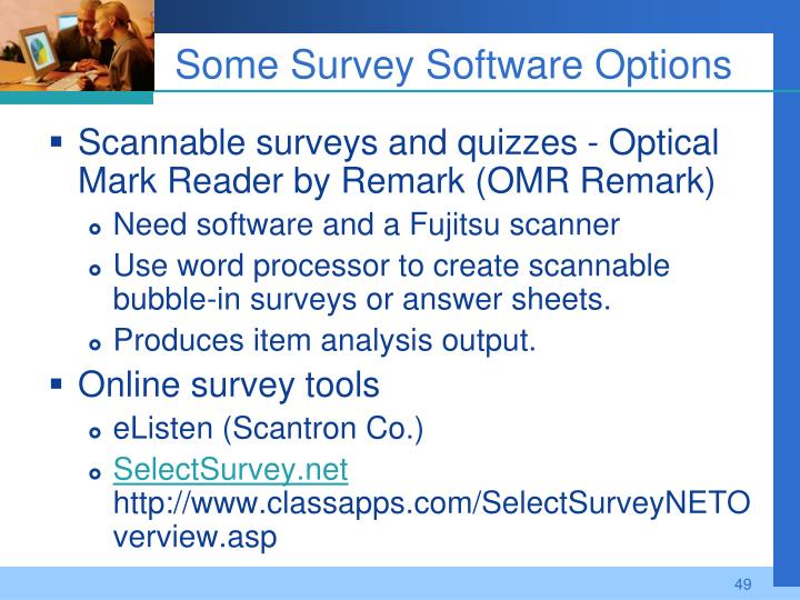 Some Survey Software Options