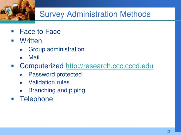Survey Administration Methods