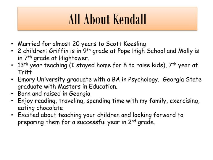 All about kendall