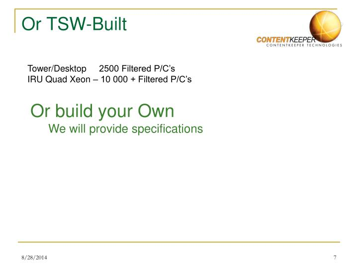 Or TSW-Built