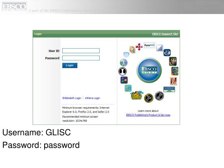 Username: GLISC